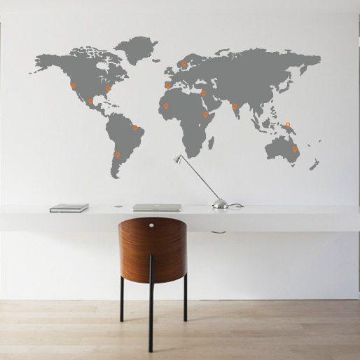 muursticker-wereldkaart-met-pinpoints-uitgelicht